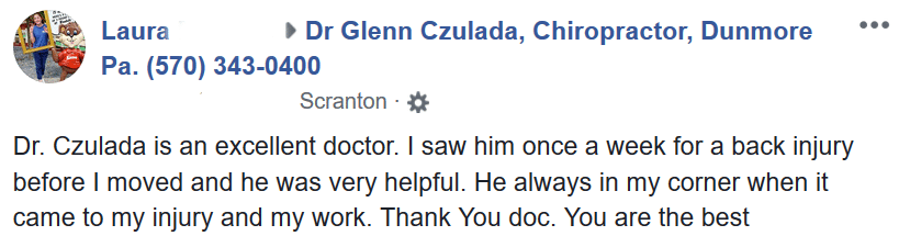 Chiropractic Dunmore PA laura Testimonial